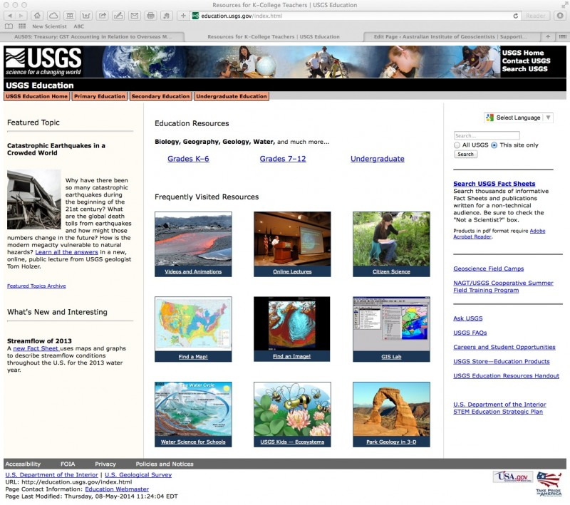 USGS Education