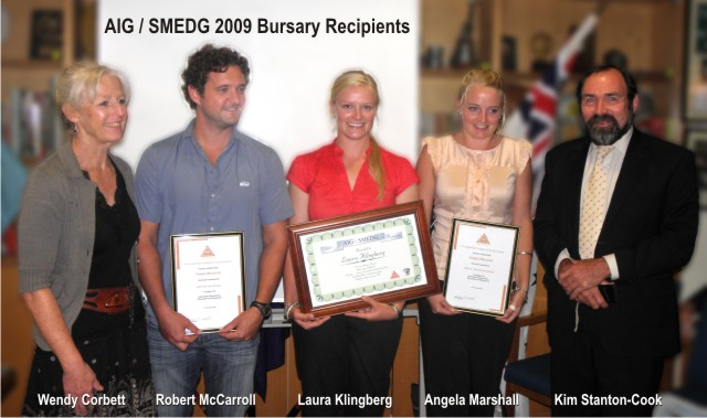 aig bursary awards sydney 2009