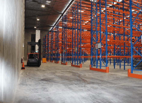 The new drill core storage facility with state of the art drill core racking and inventory management
