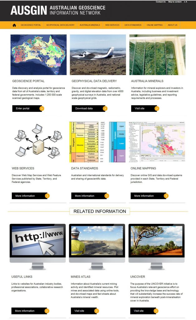 Visit The AusGIN Portal Australian Institute Of - Australia elevation data